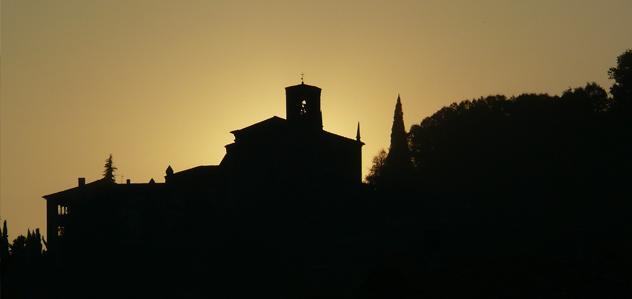 Vista notturna del monte Orfano di Rovato
